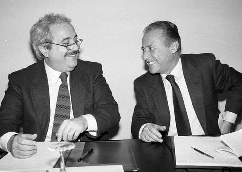 Falcone e Borsellino sguardo complice
