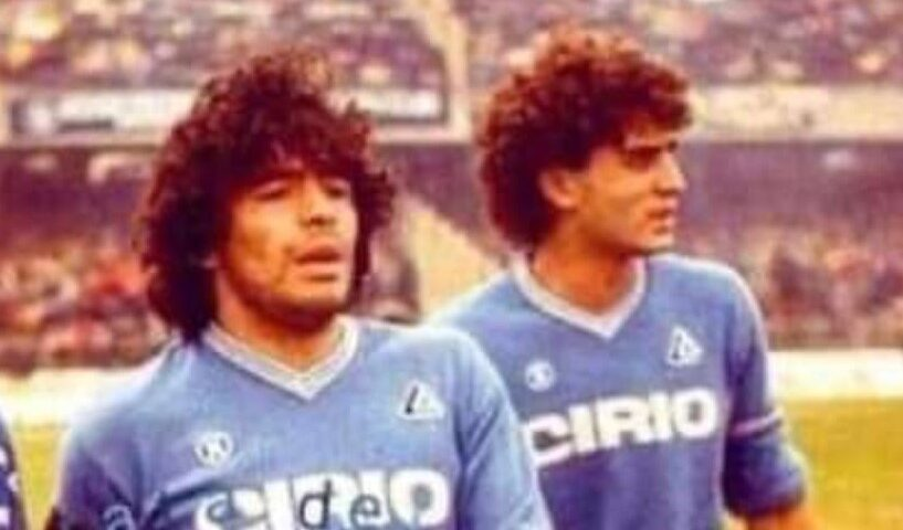 Diego Armando Maradona e Marco De Simone