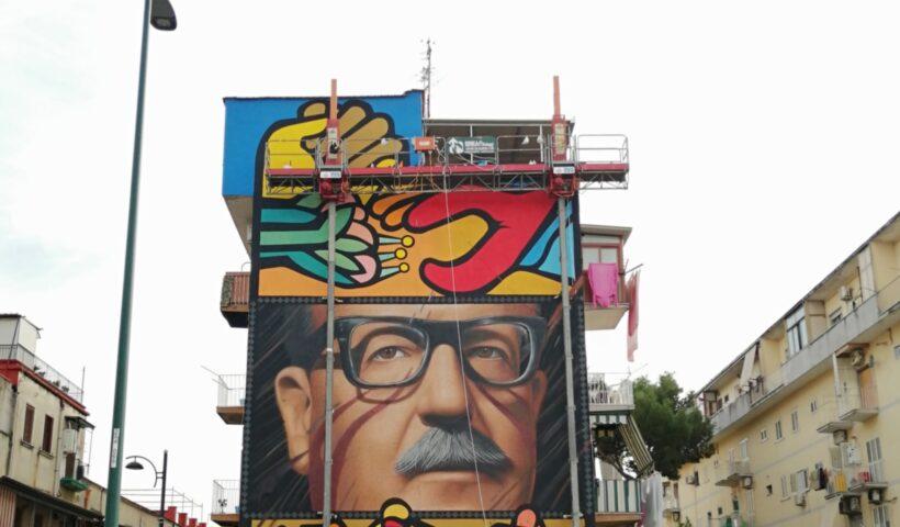 Il murale di Jorit dedicato a Salvador Allende