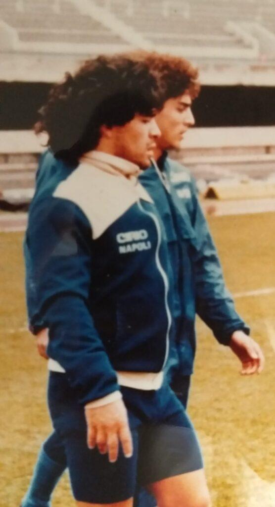 Marco De Simone e Diego Armando Maradona