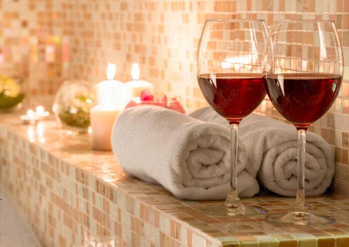 SPA e vino. Fonte: foto stock